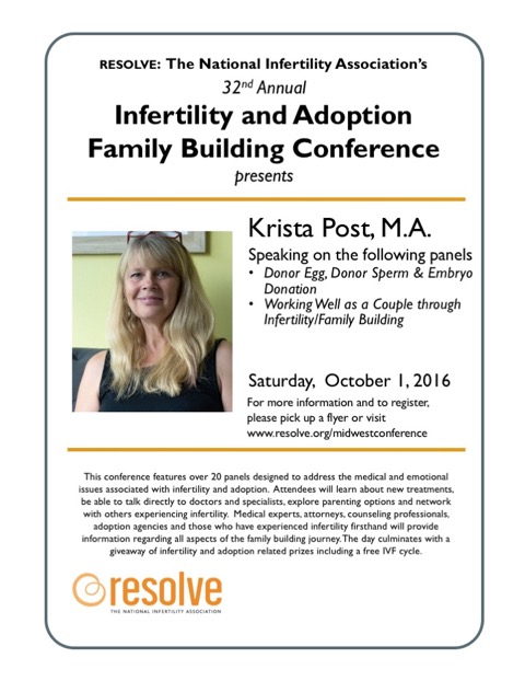 At the RESOLVE Infertility and Adoption Family Building Conference, you will learn about new treatments, be able to talk directly to doctors and specialists, explore parenting options and network with others experiencing infertility.