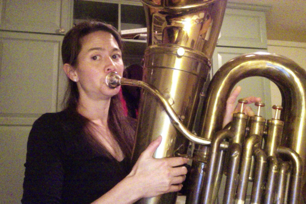 Tuba player extraordinaire, Michele Michaelson